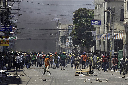 Unruhen in Haiti am 8. April 2008 - Foto: (c) 2008 MINUSTAH