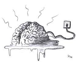 Zuviel Internet führ zur Gehirnschmelze...