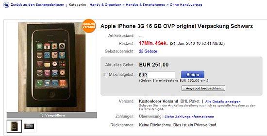 Eine Verpackung für über 250 Euro...