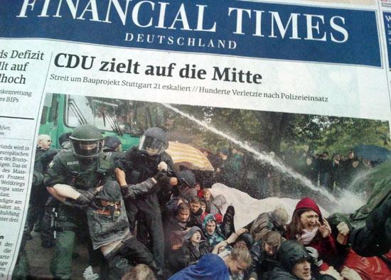 """""""CDU zielt auf die Mitte"""" - Financial Times Deutschland, 1.10.2010"""