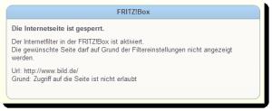Nicht jede Webseite ist vielleicht aufgrund von gewalt- oder pornografischen Darstellungen für Kinder geeignet. Die Fritz!Box hilft, unliebsame Inhalte auszusperren.