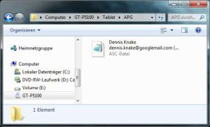 Ihr PGP-Schlüsselpaar bitte nur direkt per USB-Kabel übertragen und nicht per E-Mail auf ihr Android-Gerät schicken!