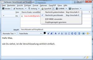 Einmal eingerichtet ist das Ver- und Entschlüsseln von E-Mails ein Kinderspiel.