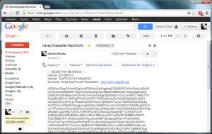 Wer immer jetzt bei Google mitliest: Mit Ihren verschlüsselten E-Mails ist ohne PGP-Key nichts mehr anzufangen.