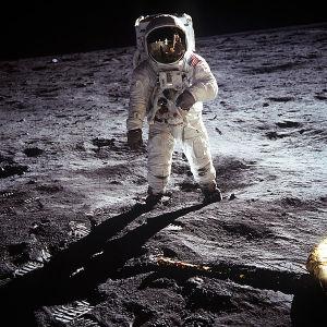 Buzz Aldrin auf dem Mond. Foto: Neil Armstrong, NASA
