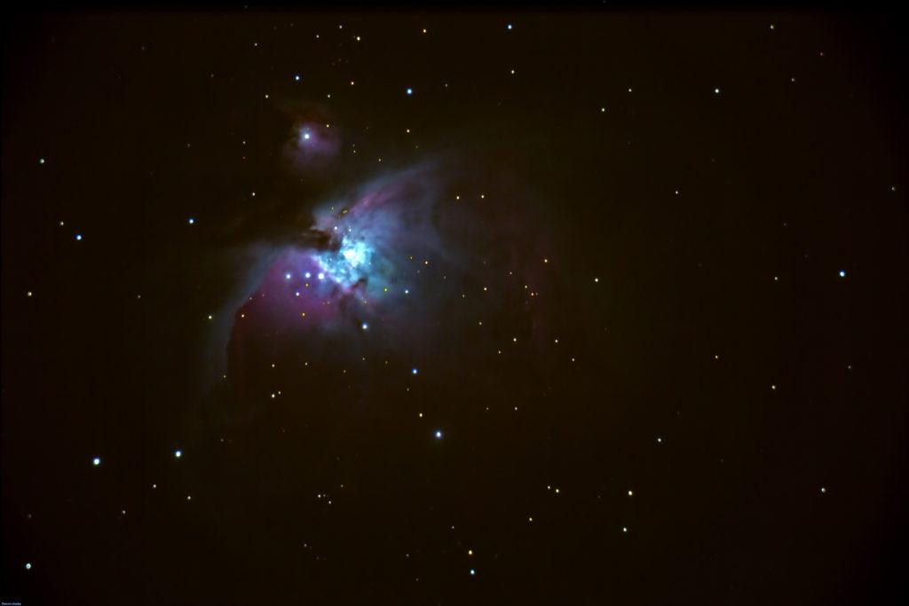"""Messier 42, M42, Orionnebel """"über Düsseldorf"""". Aufgenommen am 21.01.17 mit Canon 6D. Stack aus 10x5 Sekunden a 2500 ISO."""