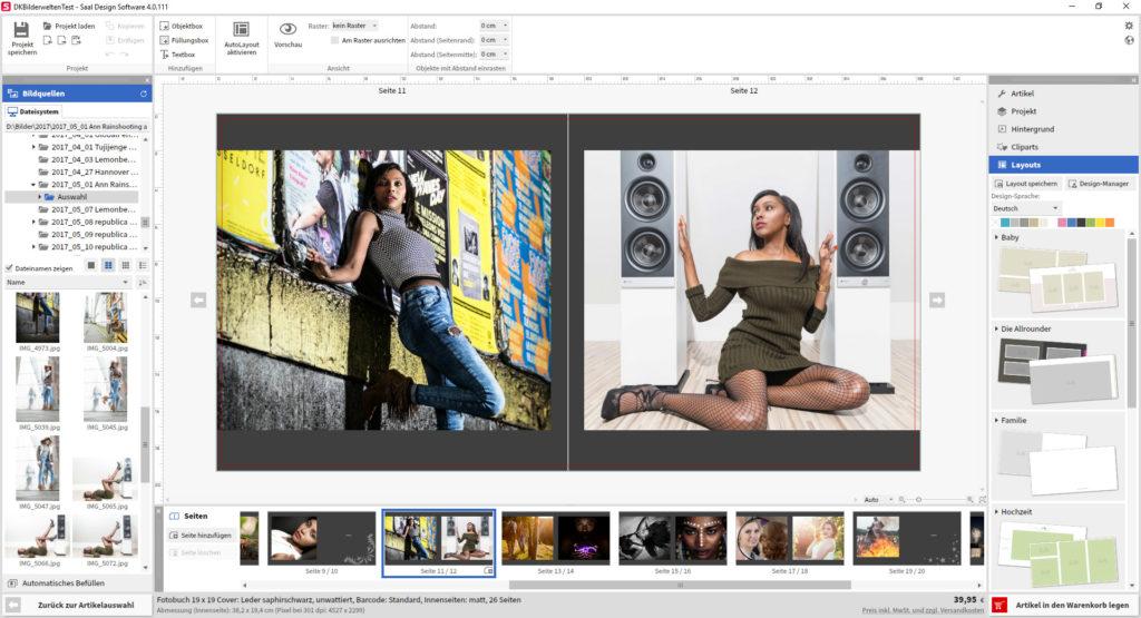 Mit der Fotobuch Software basierend auf Adobe Air lassen sich auch größere Projekte recht schnell realisieren.