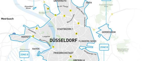 Car2Go Geschäftsgebiet Düsseldorf wird immer kleiner